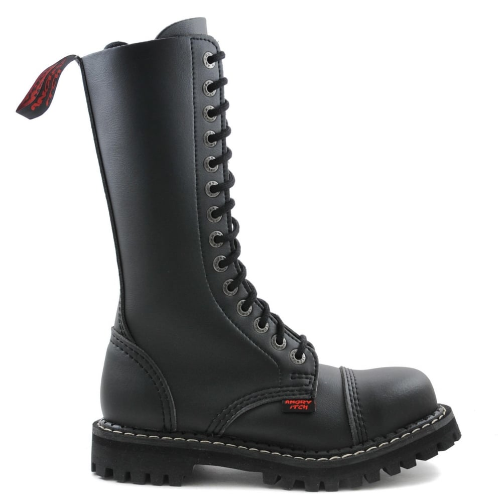 Angry Itch 14 Hole Black Combat Vegan