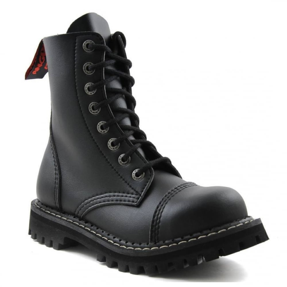 Angry Itch Vintage Black Leather Combat