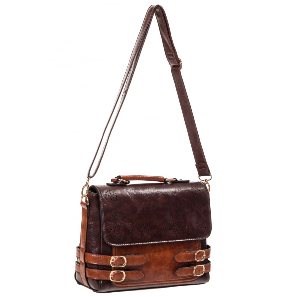 Banned Ladies Bag Dark Brown Tan Handbag - Accessories from Aztec ...