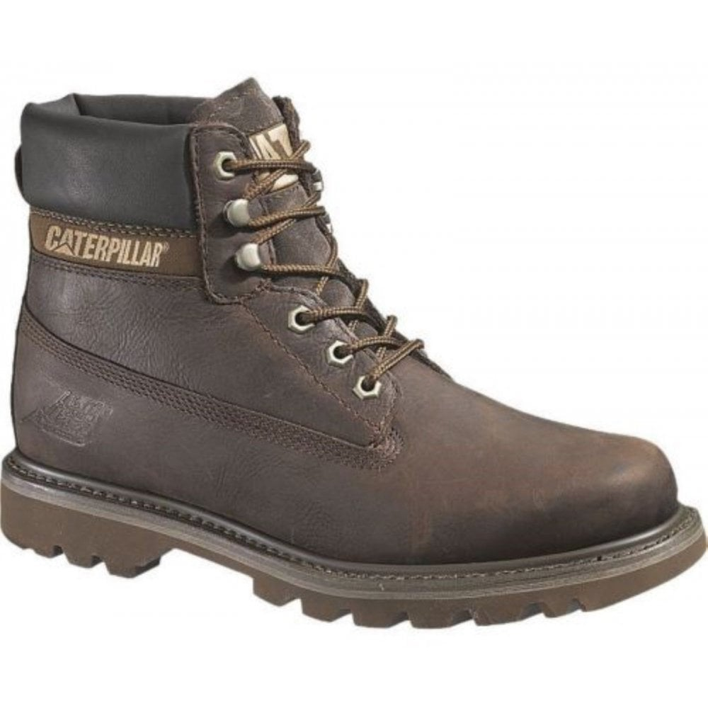 01757e779f4 Caterpillar Caterpillar Colorado Mens Chocolate Brown Leather Upper Lace Up  Ankle Boots