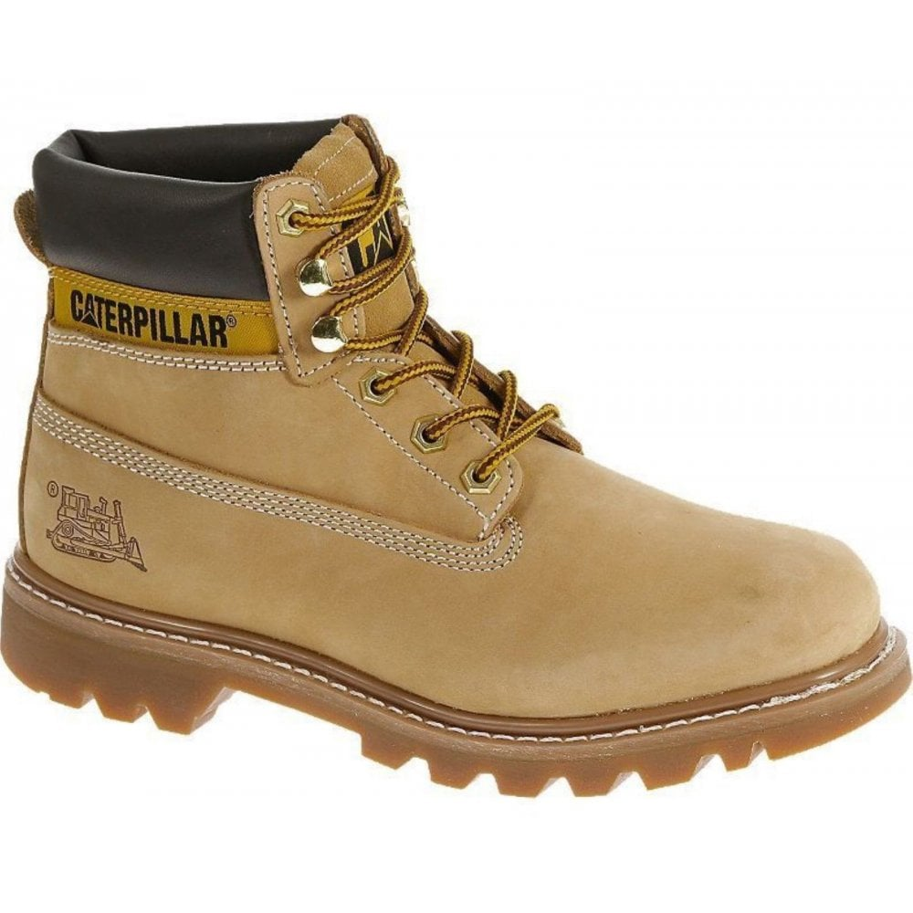 02e9a87b56f Caterpillar Colorado Mens Honey Tan Suede Leather Upper Lace Up Ankle Boots