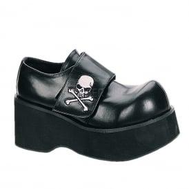 c6752598e3ed Dank 108 Ladies Black Goth Punk Rockabilly Pirate Skull Platform Shoes