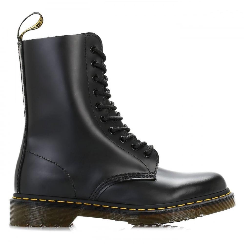 Dr Martens Genuine Classic Biker Black 10 Eye Mens Leather Combat Boot 1490Z 24cb55a65