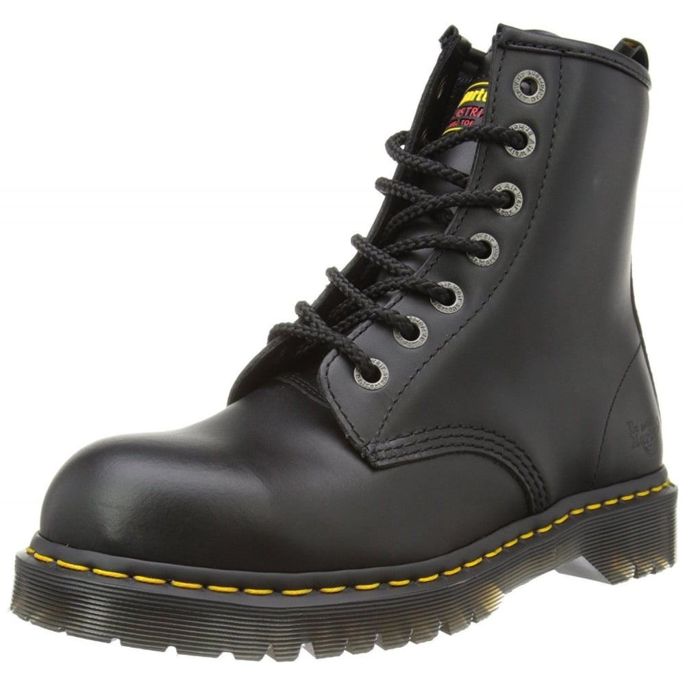 fae5885e88 Dr Martens Genuine Industral New Black 7 Eye Mens Leather Icon Boot Rock