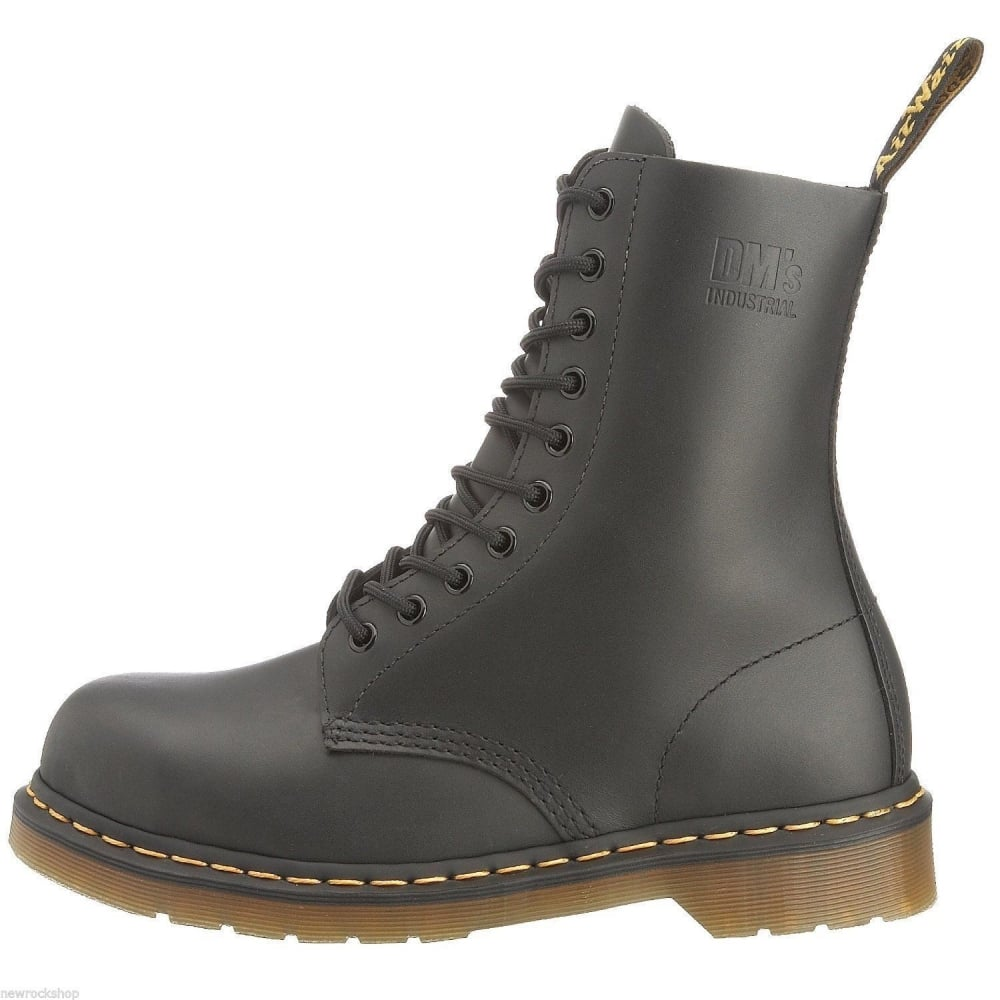 c10d01dd5c Dr Martens Icon7A Genuine Industral New Black 10 Eye Mens Leather Icon Boot  Rock
