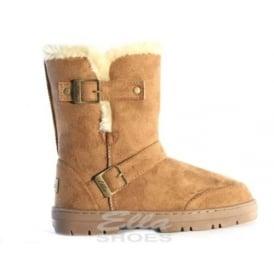 61f5f14ec Ladies Alex Chestnut Fur Lined Vegan Boot Hardsole