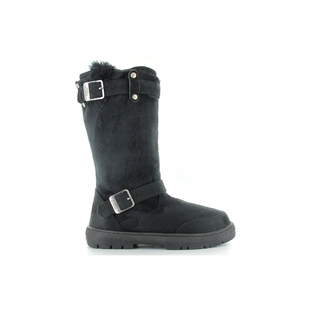 f7117fbdf Ella Ladies Harley Black Fur Lined Vegan Boot Hardsole - Ladies from ...