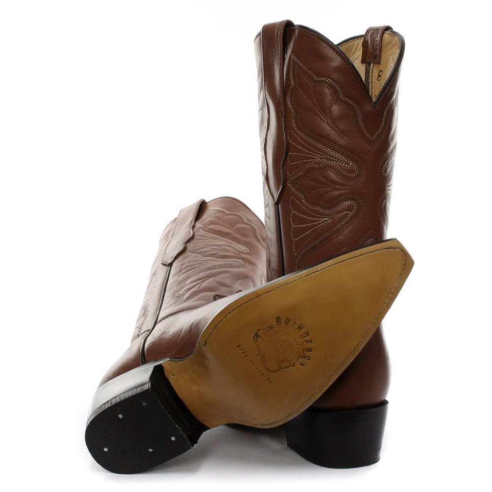 Grinders Dallas Tan Leather Boots - Ladies from Aztec Fashions UK d74b3116e