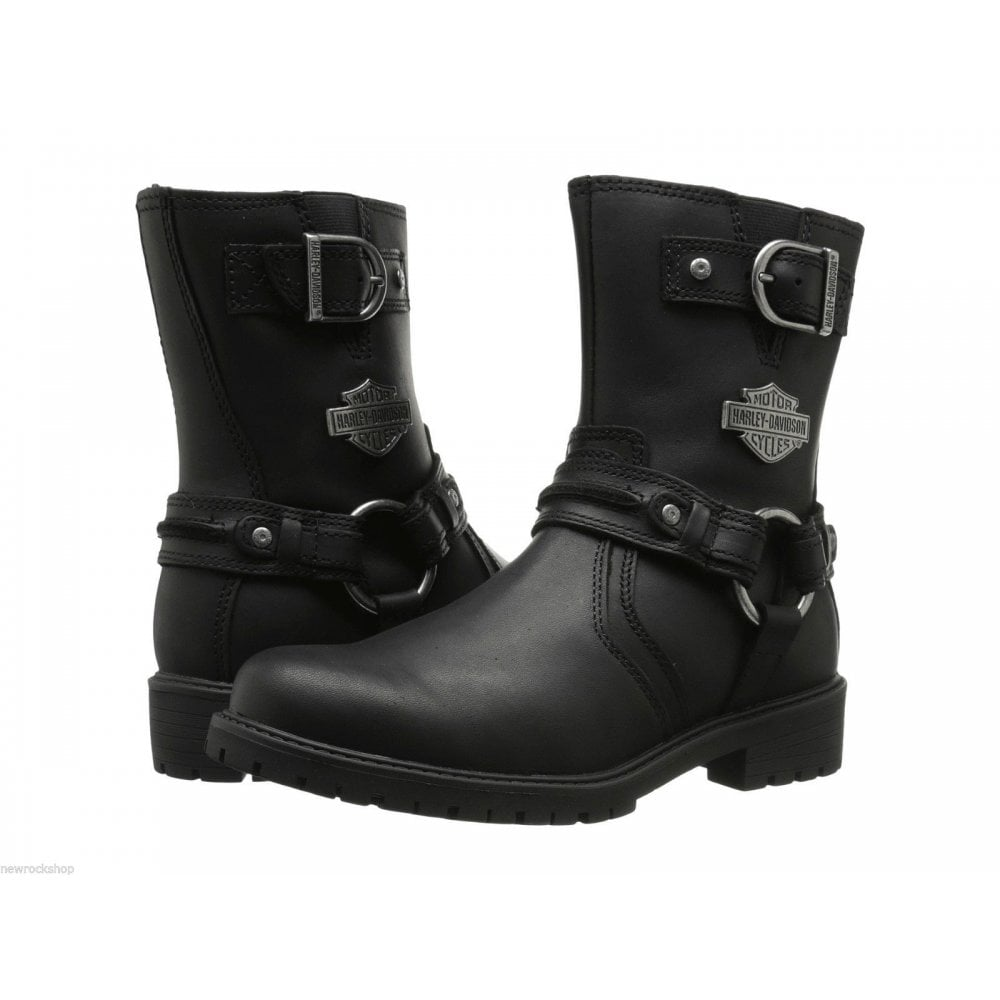 Harley Davidson Leather Biker Boots Men Ladies