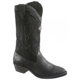 bf487f964849 Harley Davidson Galen Black Leather Biker Boots Rocks Western Cowboy