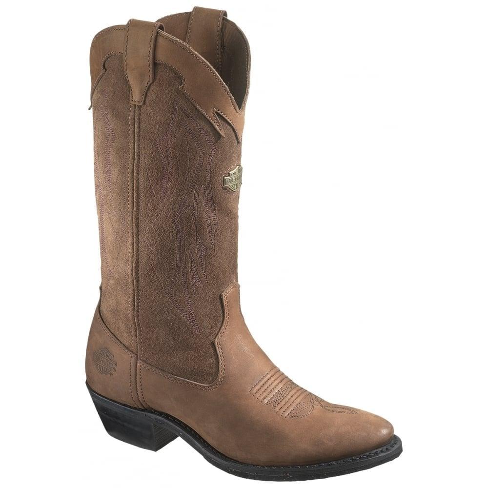 harley davidson galen mens brown leather biker boots wenster