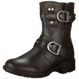 83dcd25d86c0 Harley Davidson Grace New Ladies Motorbike Black Ladies Leather Biker Boots