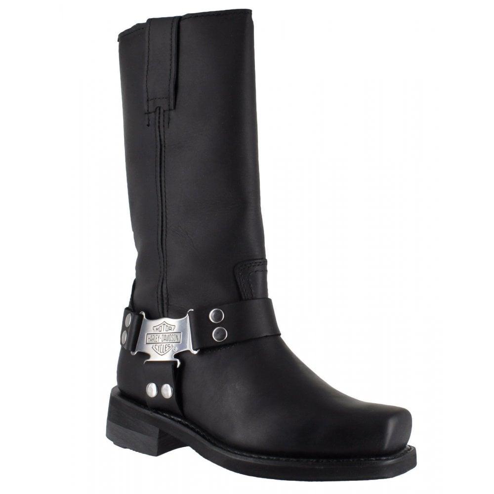 a9d6d1ca566 Harley Davidson Iroquois Hi Men Black Leather Square Toe Biker Boots  Original