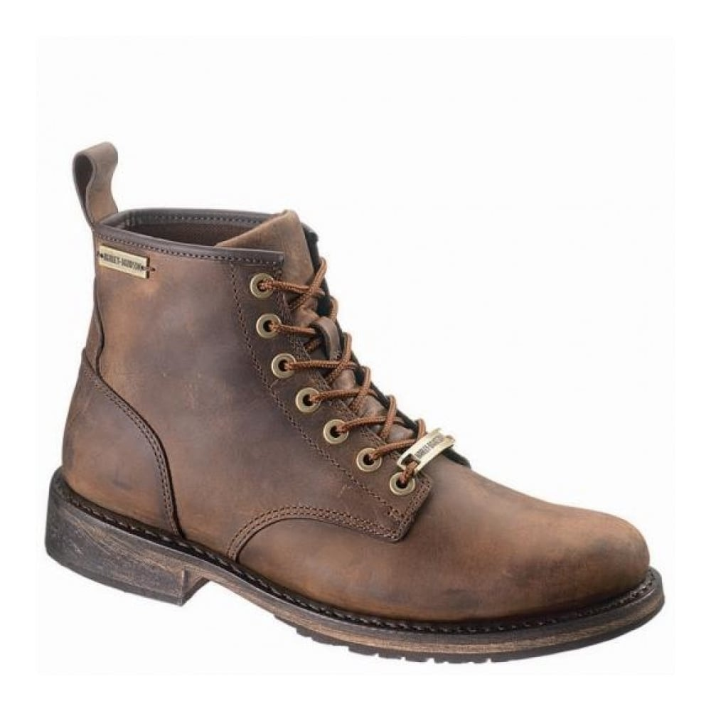 aa78eac820a1 Harley Davidson Joshua Mens Brown Leather Biker Chukka Boots Side Zip  Motorbike Riding 40