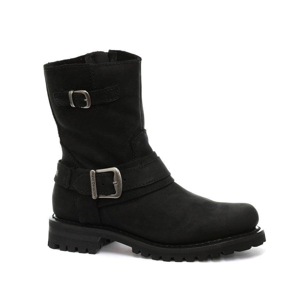 2d17ab22a9a4 Harley Davidson Scarlet Ladies Black Leather Boot Harness Biker Boots  Original 36