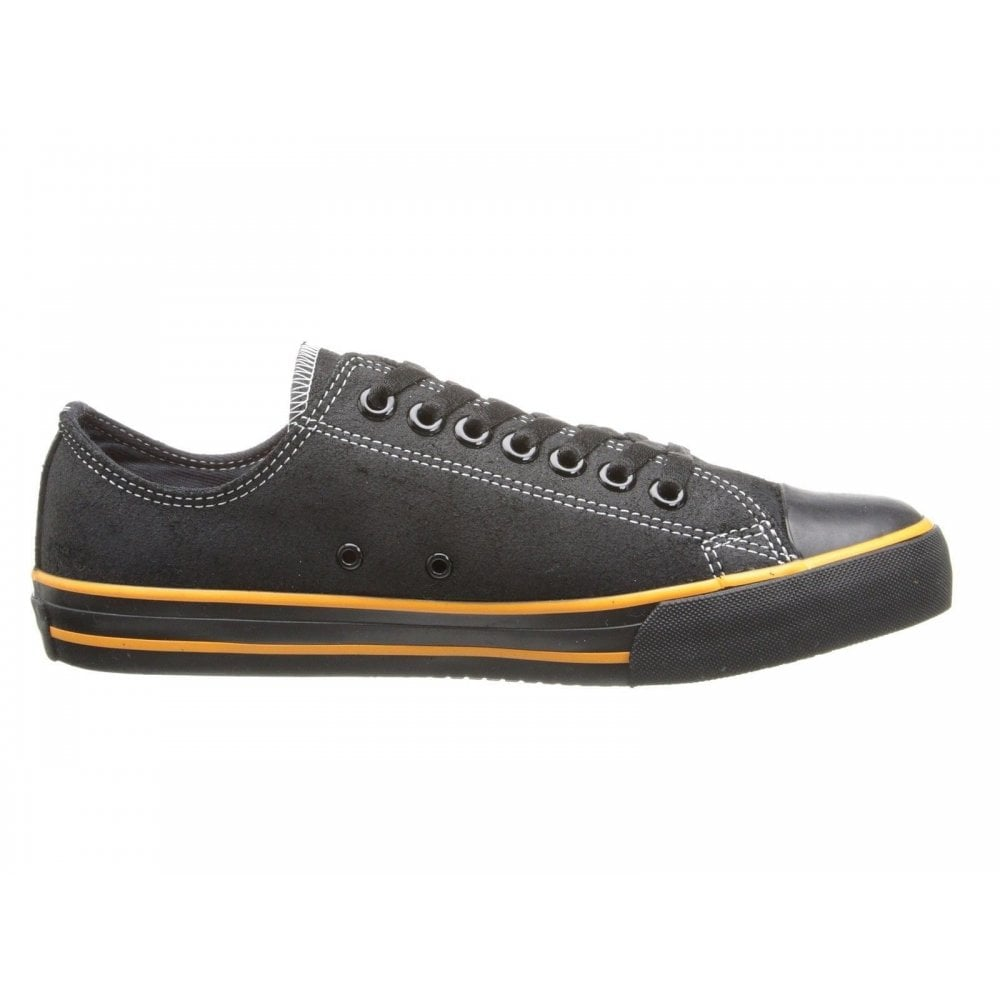 a65a3c4af02b Harley Davidson Zia Ladies Sneakers Black Leather Lace Up Biker Trainers  Shoes
