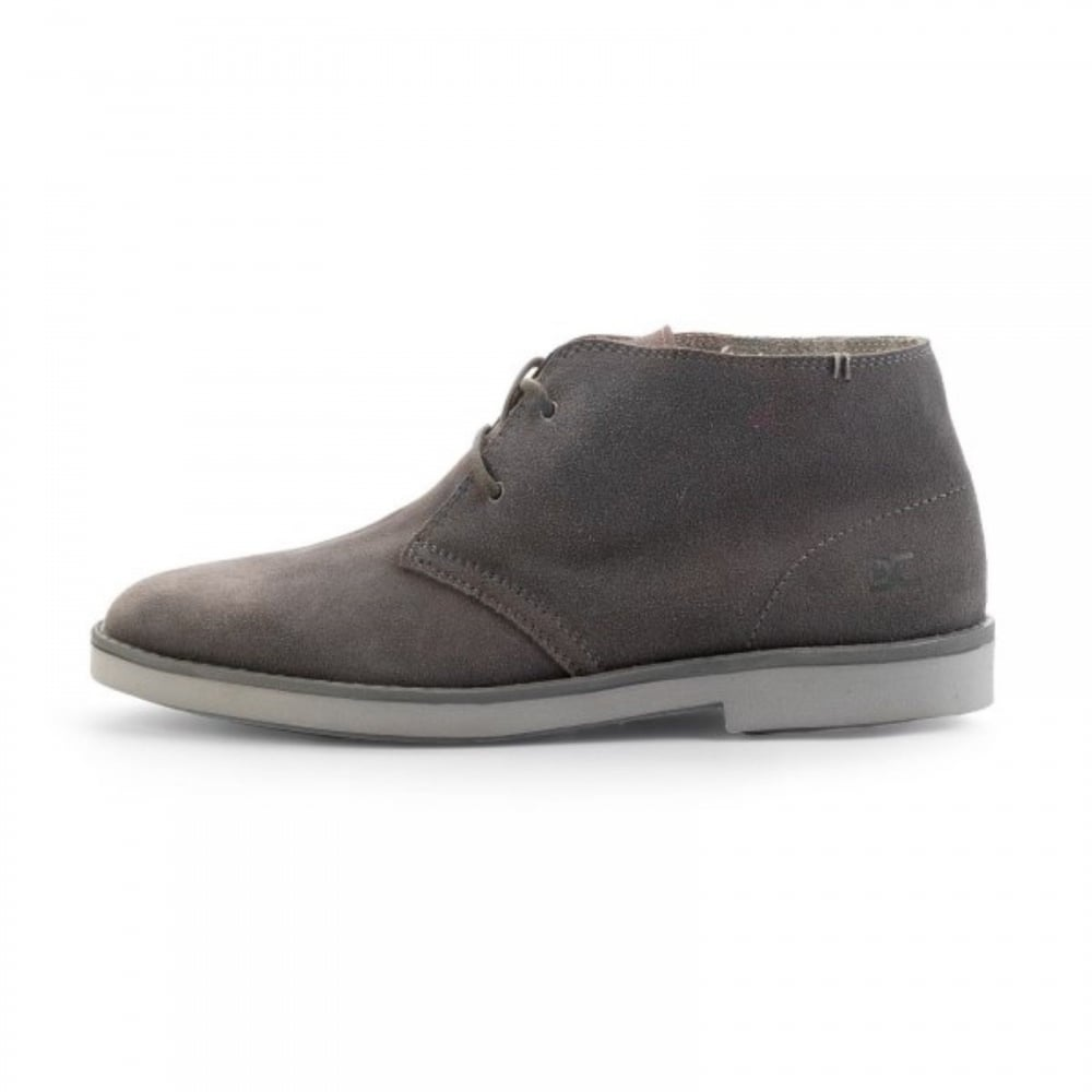 538a1c2584a2 Hey Dude Torino 2 Eye Men Boots Desert Grey Fume Suede Winter Boots White  Sole