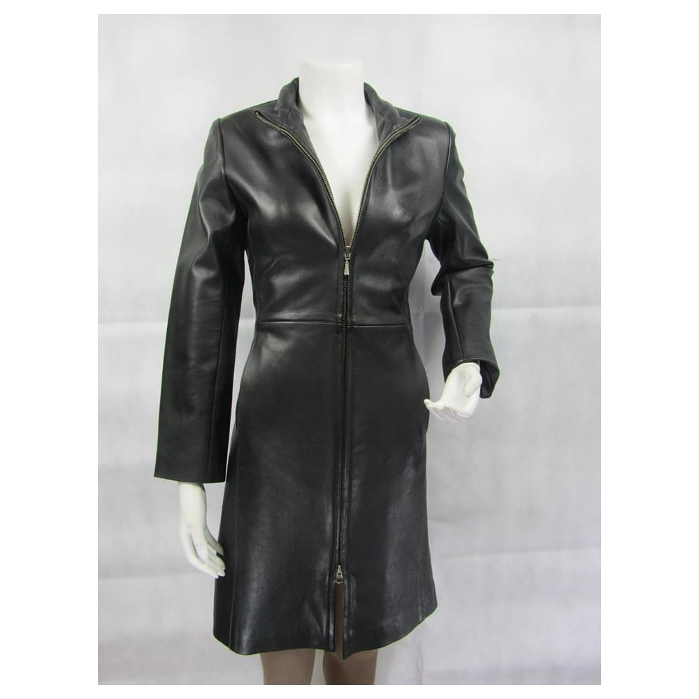 7e934dc06a3f Ladies Fashions 100% Leather Ladies Black Leather Biker Fashion ...