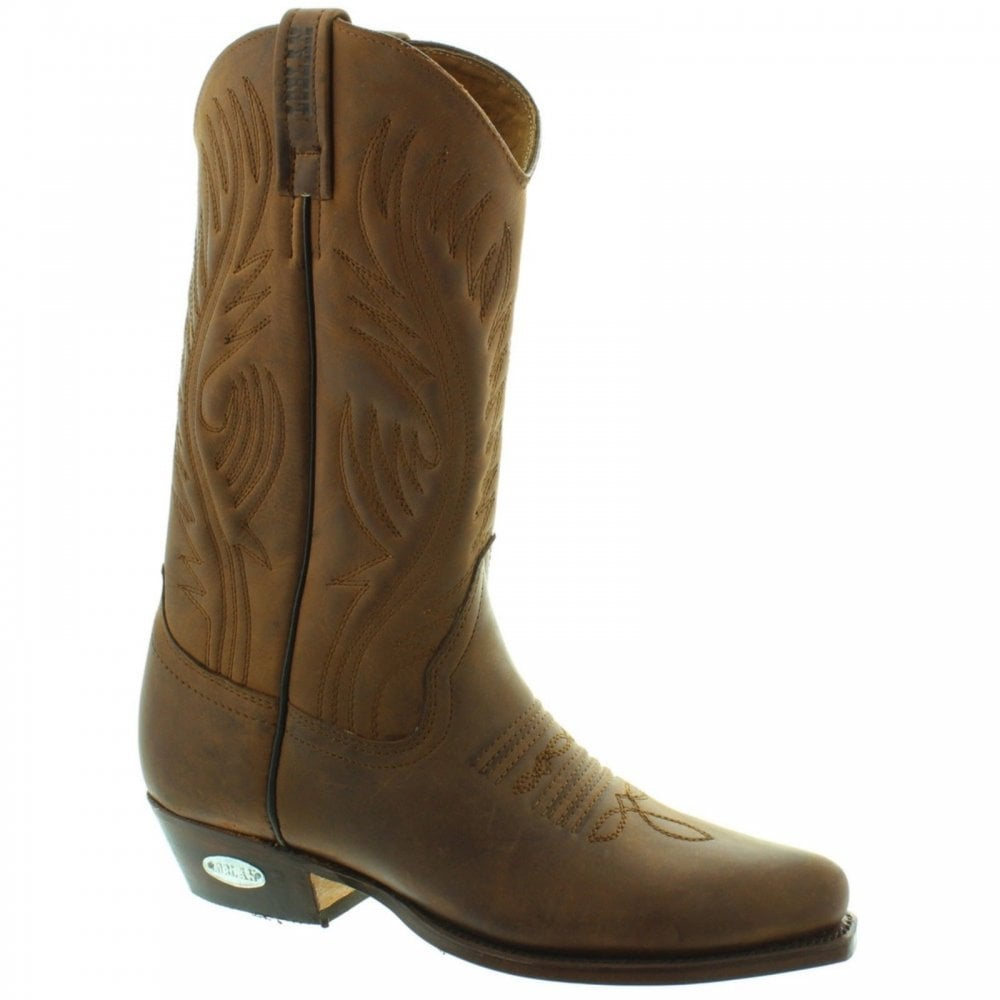 02459e1ac1f 194 Brown Leather Western Boots Hand Made In Venezuela