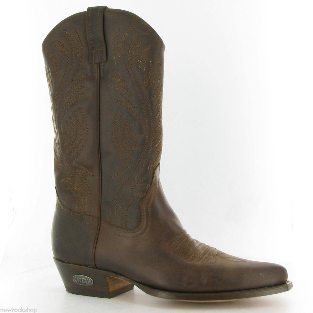 74e1ace39c0 Loblan 194 Brown Leather Western Boots Hand Made In Venezuela