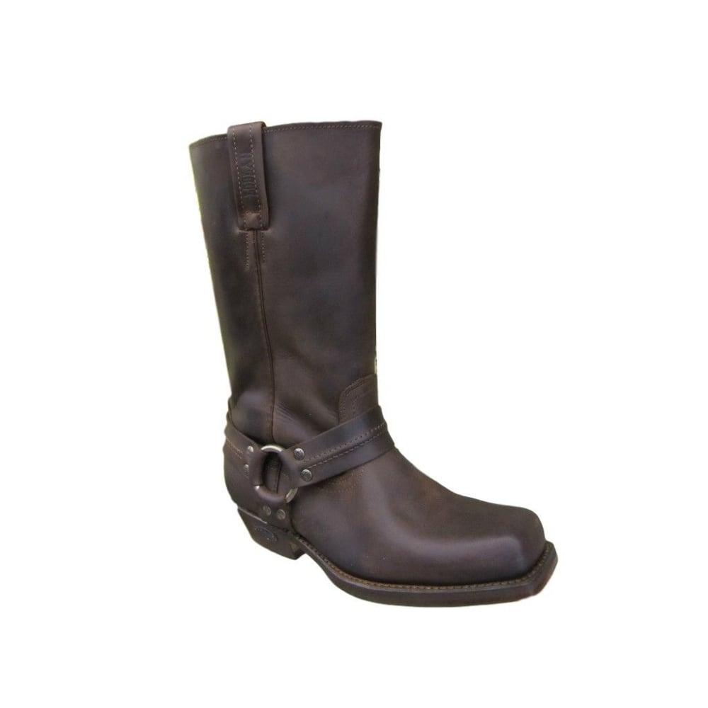 d15cd9fd3d9 295 Brown Leather Biker Boots Hand Made In Venezuela
