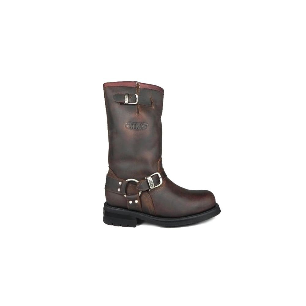 394ac2bb965 501 Brown Leather Biker Boots Hand Made In Venezuela