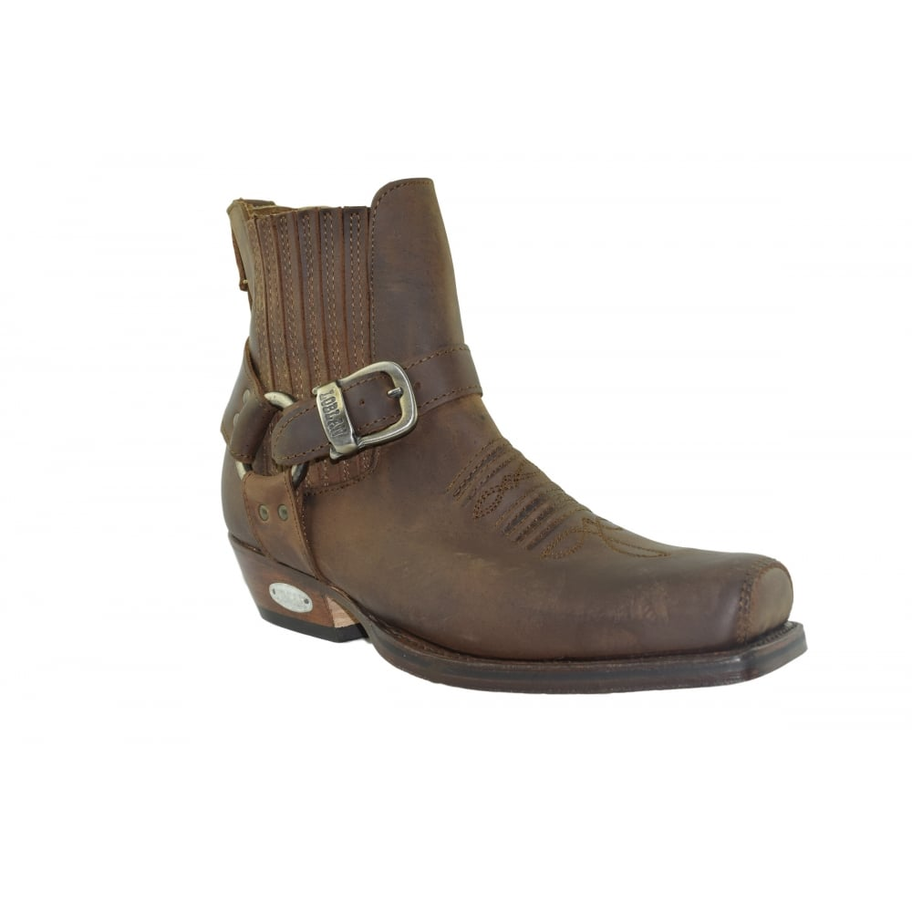 9da1ecded68 515 Brown Leather Western Ankle Boots Hand Made In Venezuela