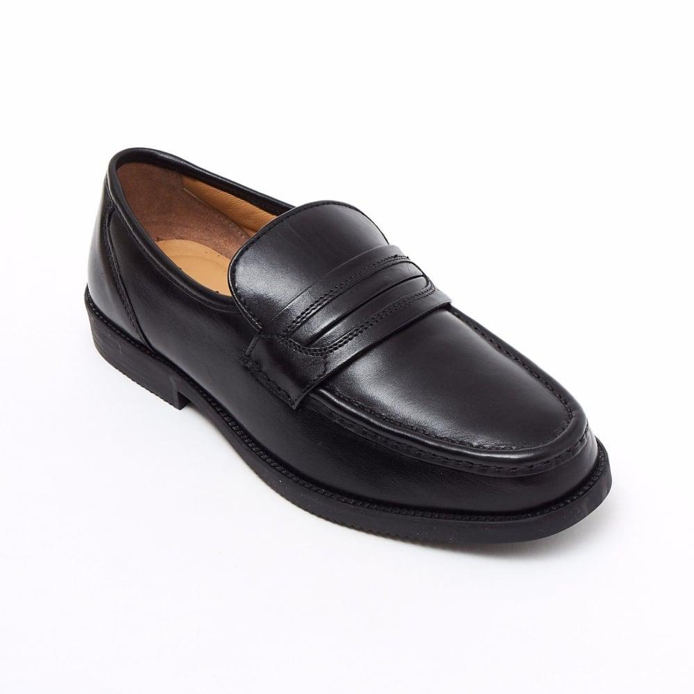 29db66b3c91 Lucini Formal Black Men Mocassin Leather Formal Slip-On Shoes Wedding Office