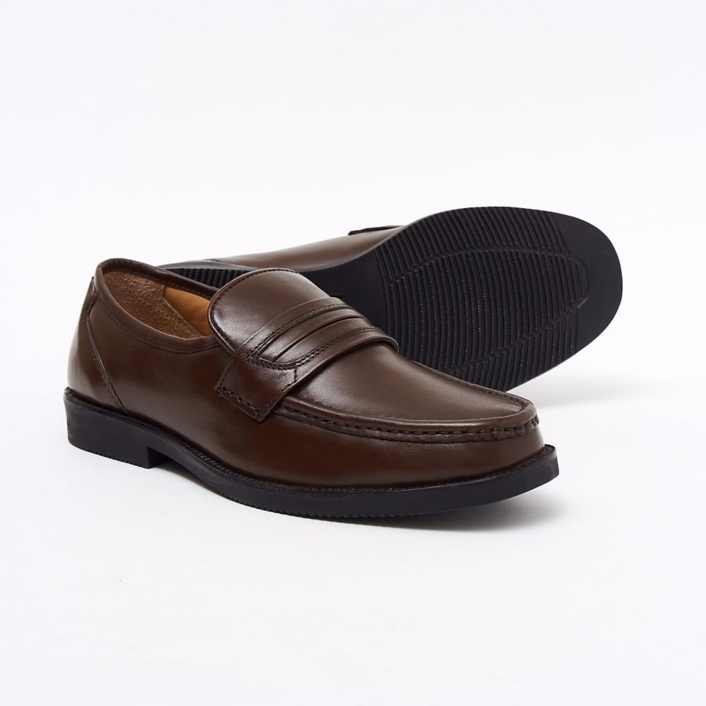 size 40 in stock detailed look Lucini Formal Brown Men Mocassin Leather Formal Slip-On Shoes ...