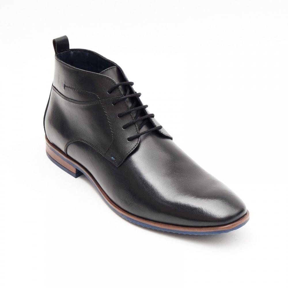 7da328382926 Lucini Formal Men Black Leather Formal Heels Lace-Up Boots Wedding Office
