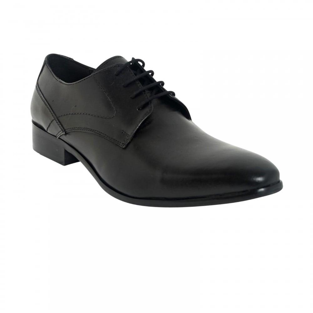 b69ed55d64b Lucini Formal Men Black Sheep Leather 4 Eyelet Comfort Shoes Wedding Office  Work