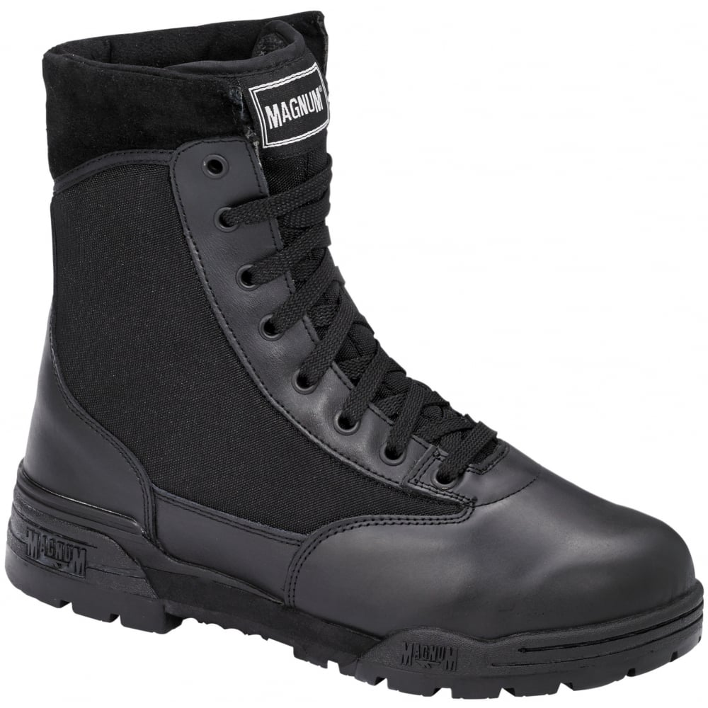 1702ae6fc1a Classic Mililtary Black Leather Boots Ultra Resistant