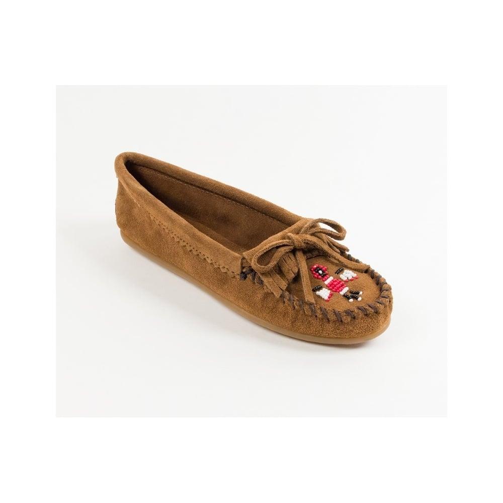 2b3b3001da1 Moccasins Handmade 603 Women Kilty Hardsole Brown Suede Thunderbird