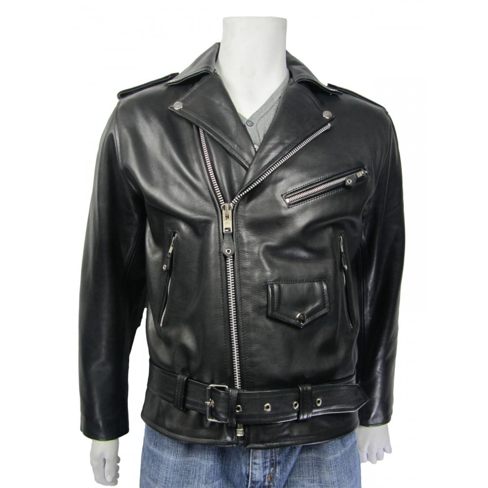 1d9951fe4c1f OSX New Men Black Cowhide Black Leather Zip Jacket Bomber Rock Bike