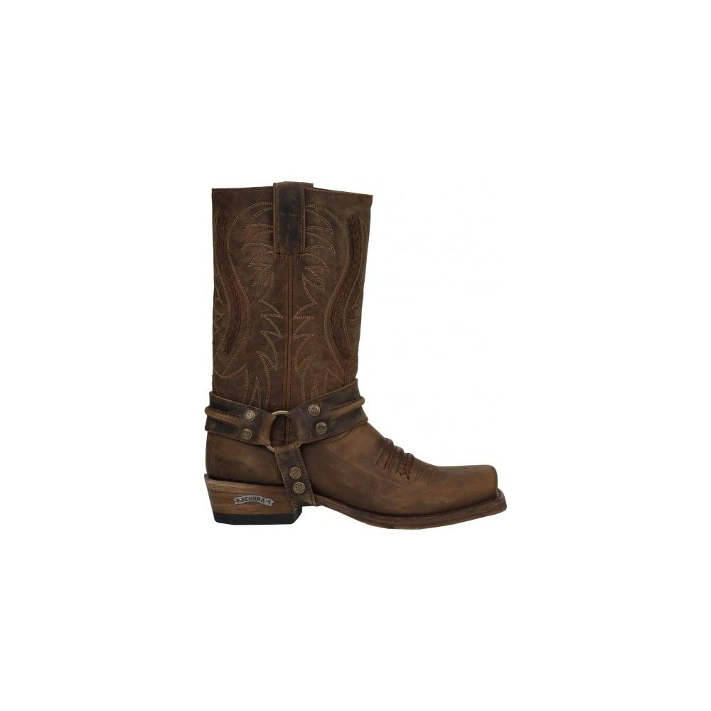 ea718d3abe0 Sendra 12209 Handmade Men Cowboy Boots Brown Leather Western Biker