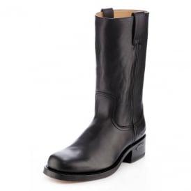 a7a951278 3162 Handmade Men Boots Black Leather Western Biker
