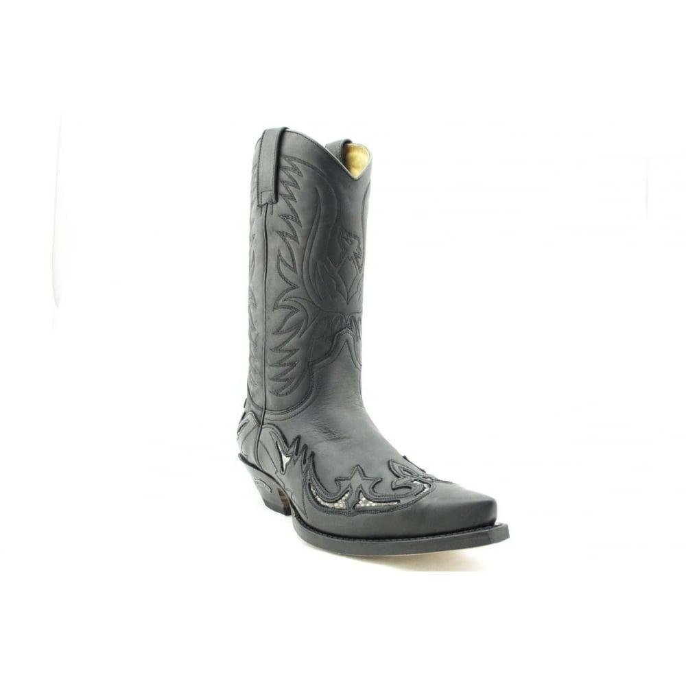03e4c54ff1daf 3242 Handmade Men Cowboy Boots Black Leather Real Python Details Western  Biker