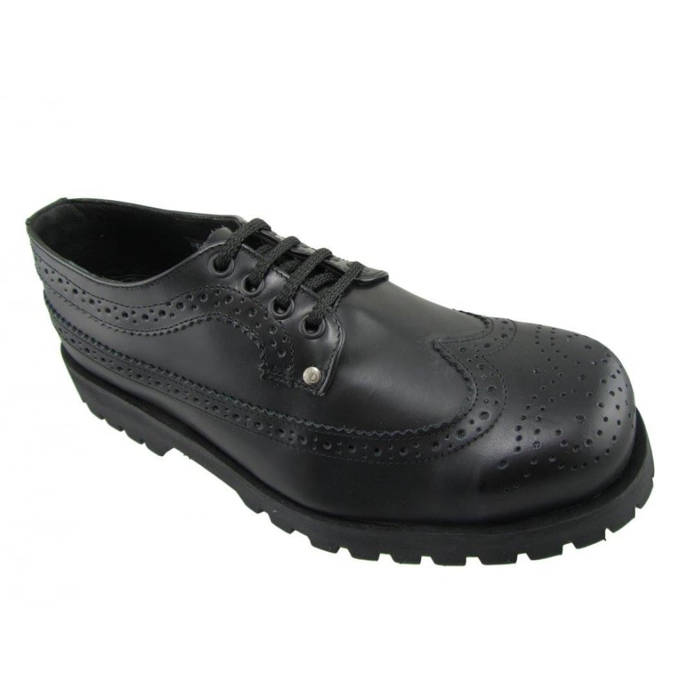 Steel Ground Unisex Black Leather